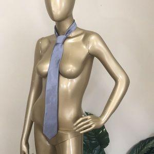 CALVIN KLEIN silver slim neck tie
